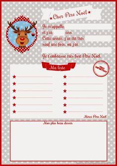 Lettres au Père Noël ! - Le blog du printable