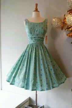 Beautiful Dress: turquoise chiffon 50s dress - vintage - Pinterest ...