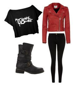 """Biker look"" by wantyousobad on Polyvore featuring Mode, IRO, Current/Elliott und Steve Madden"