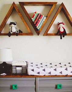 Michelle - Blog #Geometric #Shelving Fonte : http://iviebaby.com/
