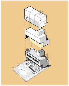 """6,236 curtidas, 16 comentários - [  ARCH  GRAP  ] (@arch_grap) no Instagram: """"Sketch @fer__neyra • • • #sketch #house #building #design #Architecture #axonometric…"""""""