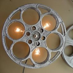 Custom Film Reel Wall Sconce