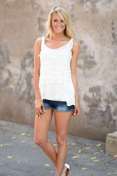 1c308d0dedf284 White Crochet Top – The Pulse Boutique White Crochet Top