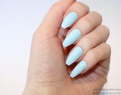 Pastel blue coffin nails, Nail designs, Nail art, Nails, Stiletto nails, Acrylic nails, coffin nails, Fake nails, False nails