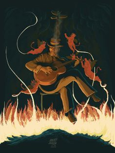 Robert Johnson At The Crossroads by Fro Design Company