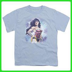 Youth: Wonder Woman- Stunning Warrior Kids T-Shirt Size YL - Superheroes shirts (*Amazon Partner-Link)