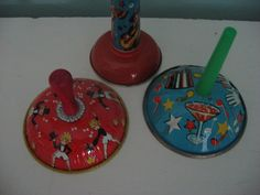 instant collection set of 3 tin noisemakers