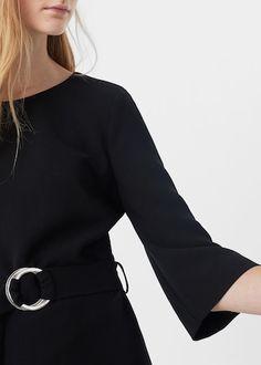 Sukienka z paskiem - Sukienki dla Kobieta | MANGO Polska