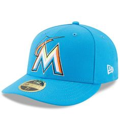 cheap for discount d0606 0ac48 Miami Marlins New Era 2017 Players Weekend Low Profile 59FIFTY Fitted Hat -  Blue