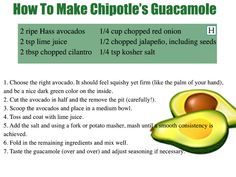 Chipotle Revealed Its Guacamole Recipe So Now You Can Make It At Home