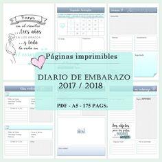 Páginas diario de embarazo 2017/18 de AlagainaScrap en Etsy https://www.etsy.com/es/listing/520912875/paginas-diario-de-embarazo-201718