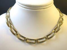 Vintage Modernist Jewelry Set Gold Link by BonniesVintageAttic