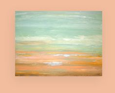 Shabby Chic Beach Abstract Acrylic Art Canvas by OraBirenbaumArt, $365.00