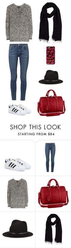 """""""Classic"""" by lilsgrey ❤ liked on Polyvore featuring adidas, Paige Denim, rag & bone, Blue Les Copains and Diane Von Furstenberg"""
