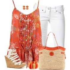 Floral Tunic & Wedges