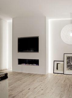 Penthouse In Copenhagen Penthouse In Kopenhagen Norm Architects Linear Fireplace Tv Fireplace