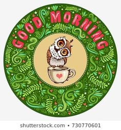 Explore high-quality, royalty-free stock images and photos by Svesla Tasla available for purchase at Shutterstock. Coffee Cup Tattoo, Good Morning Texts, Royalty Free Images, How To Draw Hands, Banner, Greeting Cards, Stock Photos, Owls, Hand Drawn