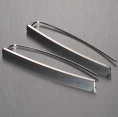 Sterling Silver Bar Earrings by ColieArt on Etsy, $35.00