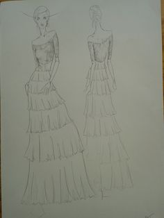 Sketch by Molteno Creations. Sketch Drawing, Dress Designs, Fashion Illustrations, Dream Dress, Fashion Clothes, Designer Dresses, Dreaming Of You, Make It Yourself, How To Make