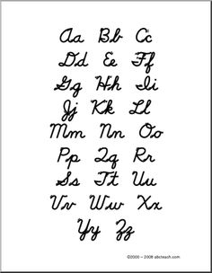 Uppercase  Lowercase Cursive Alphabet Charts With Arrows In Pdf