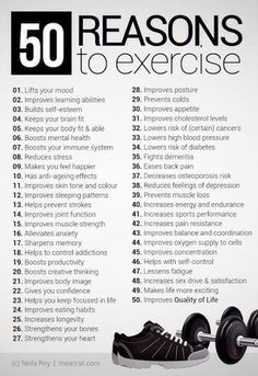 50 Reasons Why We Need To Exercise