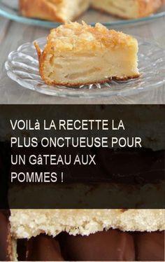 Voilà la recette la plus onctueuse pour un gâteau aux pommes ! #Eau #Gateau #Pomme #Recette #Gateau #Pommes No Bake Desserts, Brunch, Dairy, Pie, Pudding, Cheese, Baking, Fruit, Food Recipes