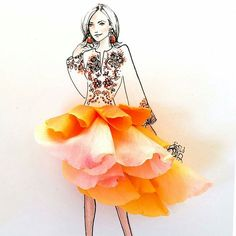 VK is the largest European social network with more than 100 million active users. Art Floral, Flower Petals, Flower Art, Flower Girls, Floral Illustrations, Illustration Art, Fashion Illustrations, Arte Fashion, Art Mignon