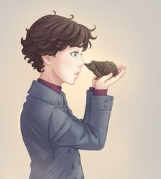 Young Sherlock and hedgehog John, cutest ever ♥