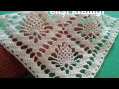 SWAROVSKİ MODELİ - YouTube Crochet Shawl Diagram, Filet Crochet, Crochet Motif, Crochet Designs, Crochet Doilies, Crochet Stitches, Crochet Baby Poncho, Cute Crochet, Baby Knitting Patterns