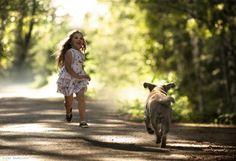 Kids and Animals by Elena Shumilova