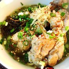 台湾薬膳料理。ラーメンの代りにもずくをいれてます。 身体ポカポカ、汗だく(*^^*)