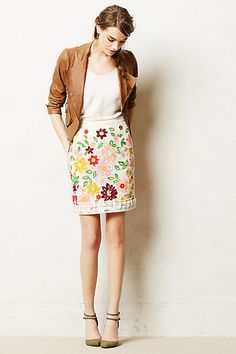 Ayaka Embroidered Skirt #anthropologie #anthrofave
