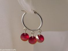 Red, orange and yellow earrings are the perfect match to jewellery in the same shades and to contrast with others such as black or brown.  These earrings include a variety of stones such as red coral and shell as well as glass beads, acrylic and crystals.  All hang from silver plated or gold tone earring wires and are handmade.  Get them here - http://www.ebay.co.uk/itm/Red-Orange-Yellow-Beaded-Dangle-Drop-Earrings-Handmade-Silver-Plated-Hooks-/111531564702