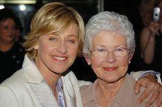 Ellen Degeneres and her mom, Betty.