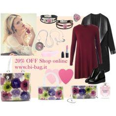 Time For Sale! #bag #bags #jewelry #pink #flower #clutch #shopper #sale #polyvore #shoponline www.bi-bag.it