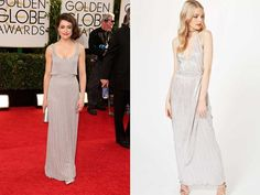 "Get Tatiana Maslany's 2014 Golden Globes look from [Miss Selfridge for $81](http://www.missselfridge.com/en/msuk/product/dress-shop-299048/prom-dresses-299128/silver-plisse-maxi-dress-5645465?bi=0&ps=40 target=""_blank"" rel=""nofollow"")"