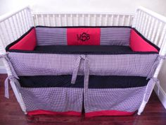 Baby Bedding Crib Set Houndstooth Red : Just Baby Designs, Baby Bedding Crib Bedding Nursery Bedding