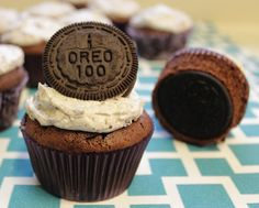 there's a whole Oreo baked right into these cupcakes.