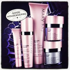 OH, MY STARS -- I've been using just two of these new products for a week and I swear the lines around my mouth (surely from smiling so much?) are fading! If you're ready for seriously aggressive anti-aging, Mary Kay's newest line, TimeWise Repair, is for you! I can order Thursday; if