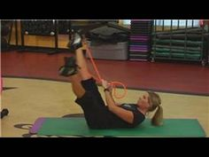 Resistance bands can be helpful tools for building abdominal muscles, specifically through reverse curls that are done by stretching the bands over the feet while the legs point up to the ceiling. Discover how to choke up on a resistance band to work the core with help from a certified personal trainer in this free video on using resistance band...