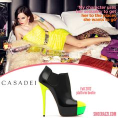 Emma Watson in Casadei Platform Booties featured in the May 2013 issue of GQ UK