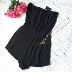 Selling this NWT Forever 21 Black Tube Top Romper in my Poshmark closet! My username is: cyndyx3. #shopmycloset #poshmark #fashion #shopping #style #forsale #Forever 21 #Other