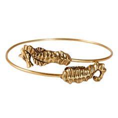 Alex and Ani Nautical Seahorse Wrap Bracelet Russian Gold