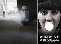 """""""Lo que los demás ven cuando fumas"""". Campaña anti-tabaco. Daniel A."""
