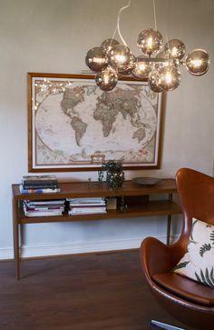 Round hanging lamp in smokey grey made of glass balls. Splendor By Rydens. Chula, Glass Ball, Smoke, Lighting, Grey, Interior, Furniture, Balls, Home Decor