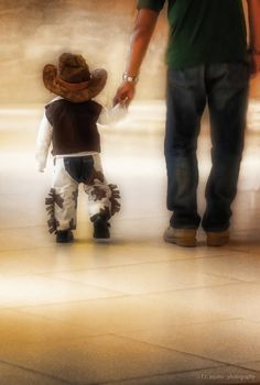 Little cowboy and his dad. photo idea