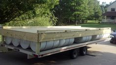 1 of 3x 8x20 floating dock sections DIY