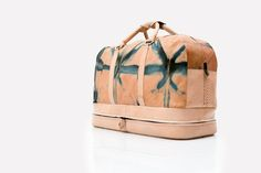 Travel bag (carry-on) · Natural vaqueta leather dyed with indigo and hand-woven braid / Bolsa de viaje · Vaqueta natural teñida con añil y trenzado tejido a mano [MX$9000] #Design #Fashion #NaturalDye