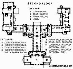 Hearst Castle San Simeon Floorplan 2nd Floor Google Search
