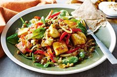 Enjoy the spicy flavour of this warm vegetarian salad.